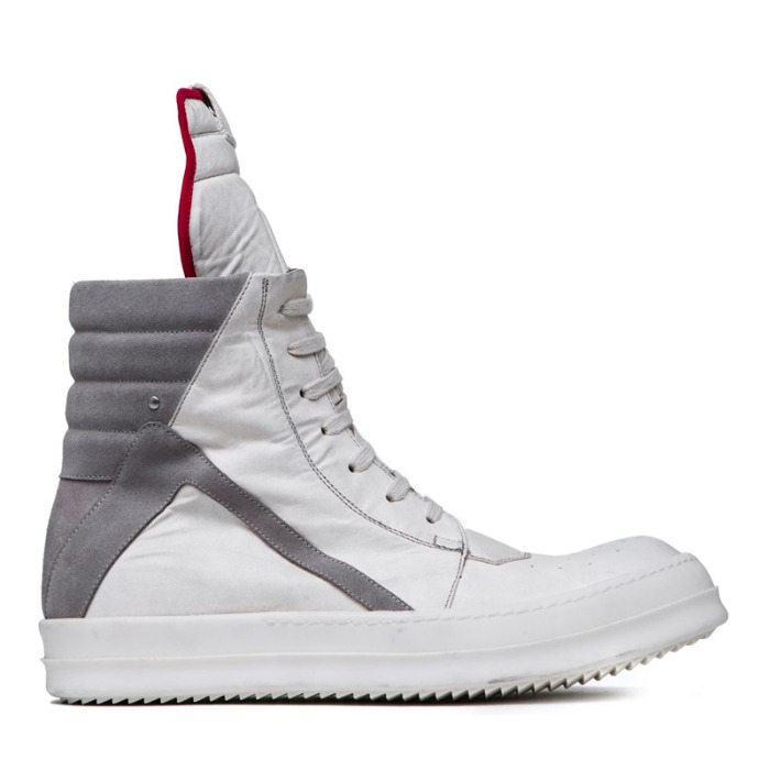 유럽직배송 릭오웬스 RICK OWENS LARRY GEOBASKET IN MILK WHITE