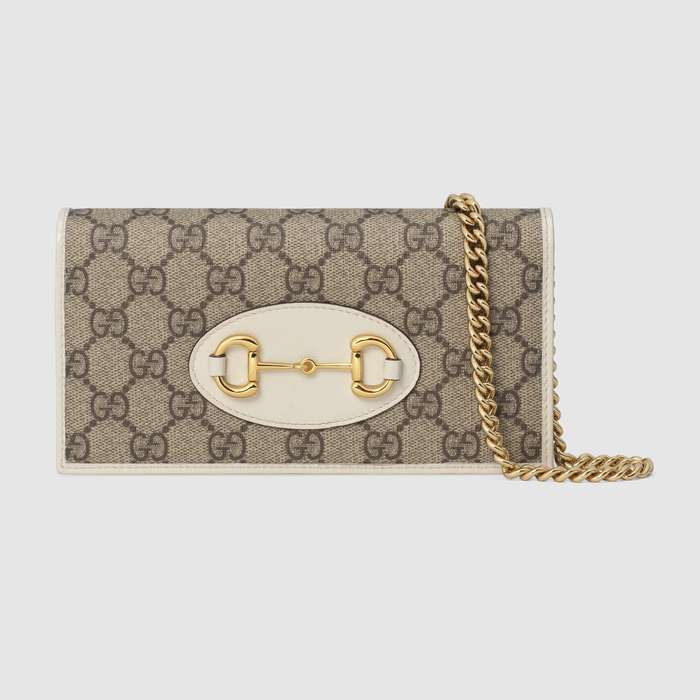 유럽직배송 구찌 GUCCI 1955 Horsebit wallet with chain 62189292TCG9761