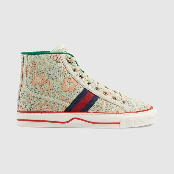 유럽직배송 구찌 GUCCI Gucci - Women's Gucci Tennis 1977 Liberty London high top sneaker 6278382I4203961