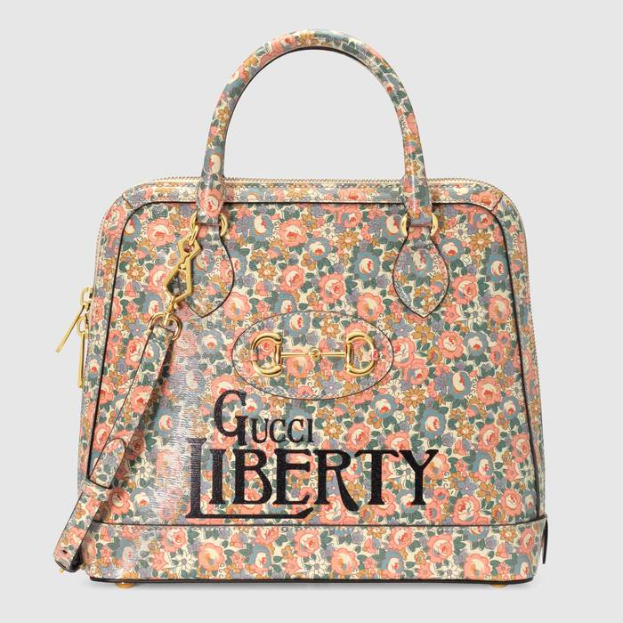유럽직배송 구찌 GUCCI Gucci - Gucci Horsebit 1955 Liberty London top handle bag 62085013KDE5964