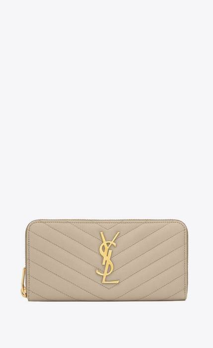 유럽직배송 입생로랑 SAINT LAURENT monogram zip around wallet in grain de poudre embossed leather 358094BOW019607