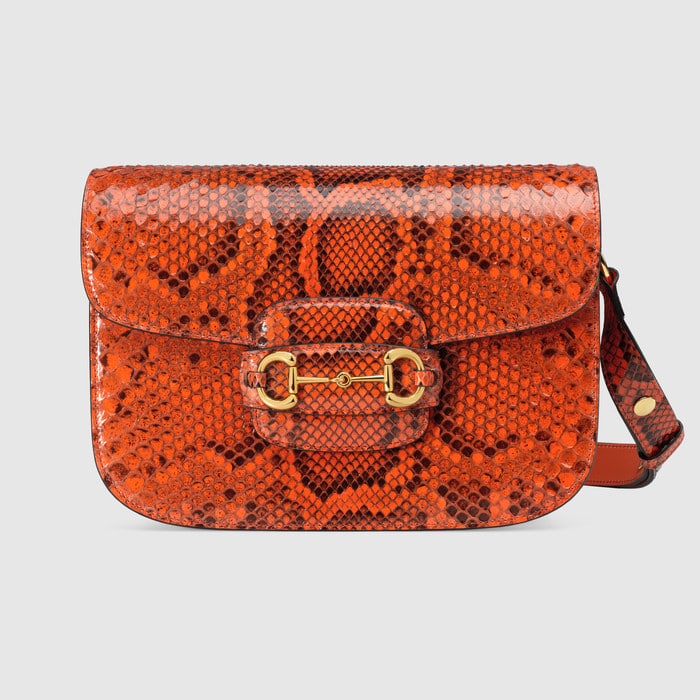 유럽직배송 구찌 GUCCI Gucci - Gucci Horsebit 1955 python small shoulder bag 602204E0P0G7519