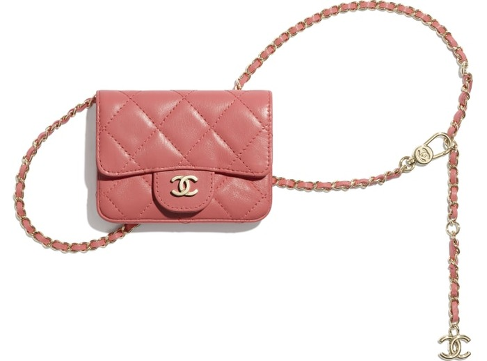 유럽직배송 샤넬 CHANEL Flap Card Holder with Chain AP1952Y04059NA106